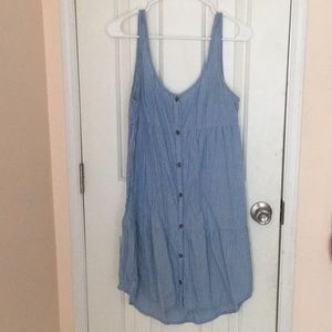 Volcom blue stripped dress button down Greece vibe